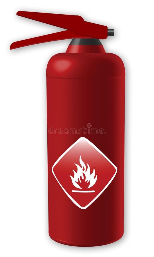 пожар гасителя бесплатная иллюстрация