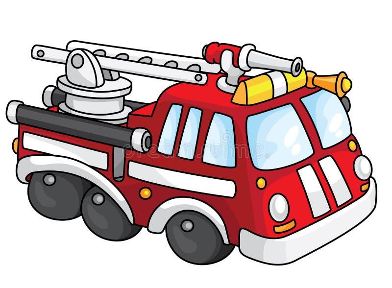 пожар двигателя иллюстрация штока