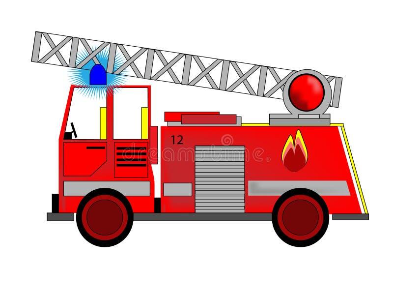 пожар двигателя бесплатная иллюстрация