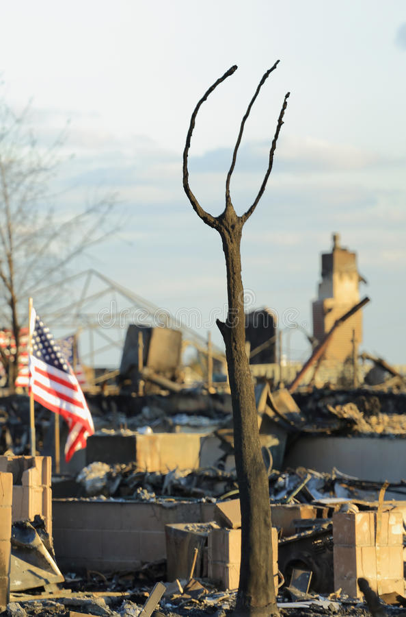 Пожар дома стоковая фотография
