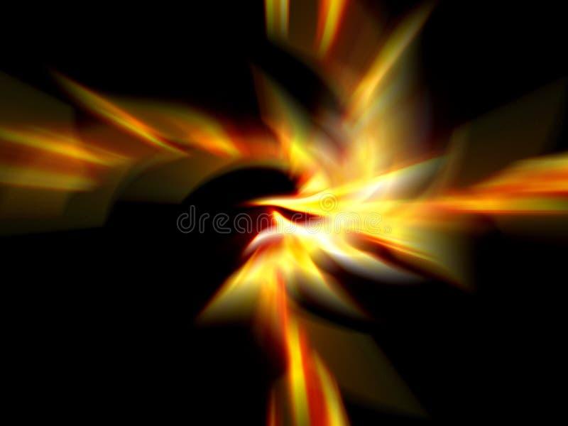 пожар нерезкостей иллюстрация вектора