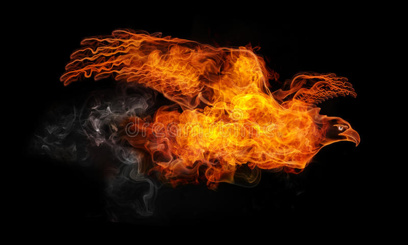 пожар орла иллюстрация штока