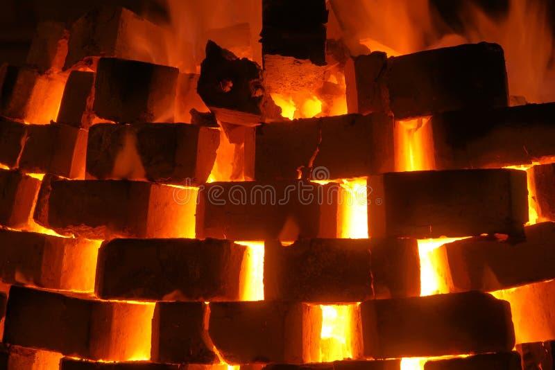 Пожар печки стоковые фото