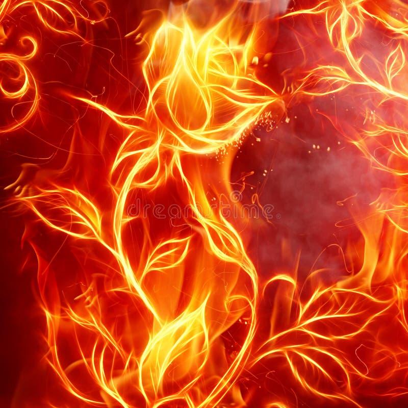 пожар поднял иллюстрация штока