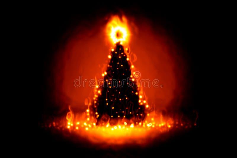 пожар рождества иллюстрация вектора