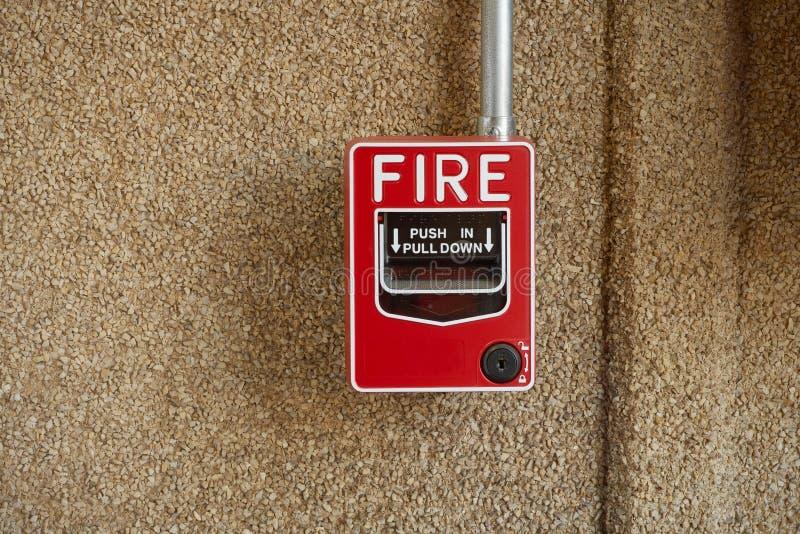 пожар сигнала тревоги стоковое фото