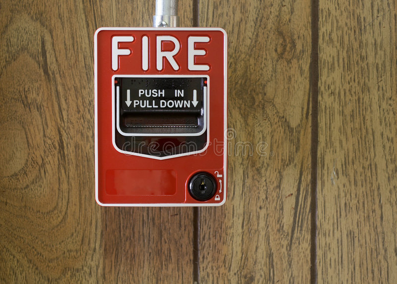 пожар сигнала тревоги стоковые фото