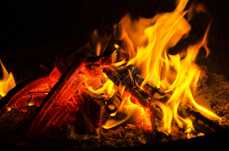 пожар теплый стоковое фото rf