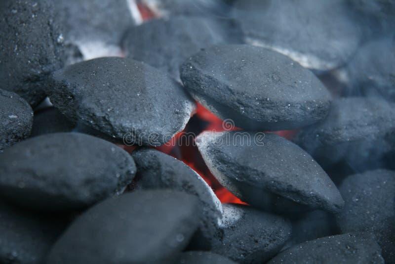 пожар угля стоковая фотография