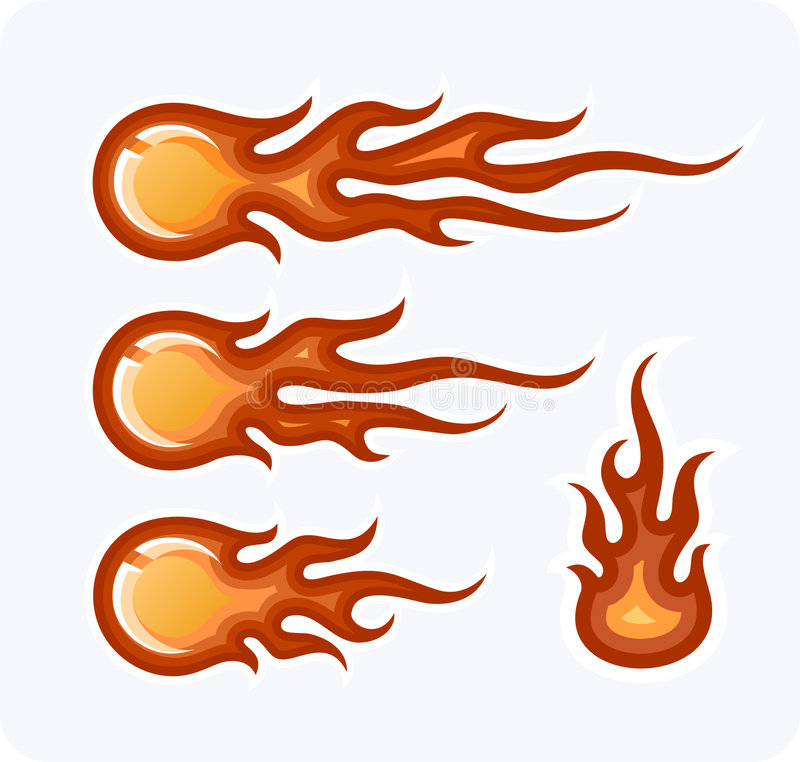 пожар шариков иллюстрация штока
