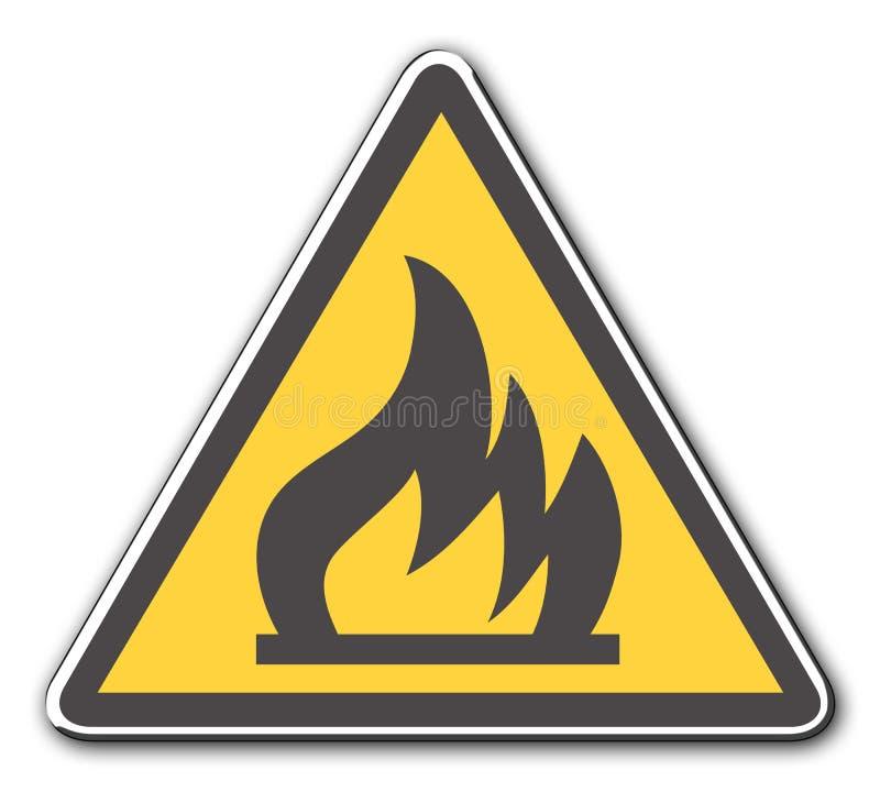 пожар иллюстрация вектора