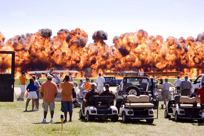 пожар airshow стоковое изображение rf