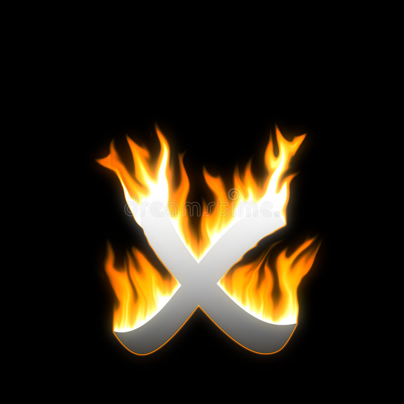 пожар x иллюстрация штока