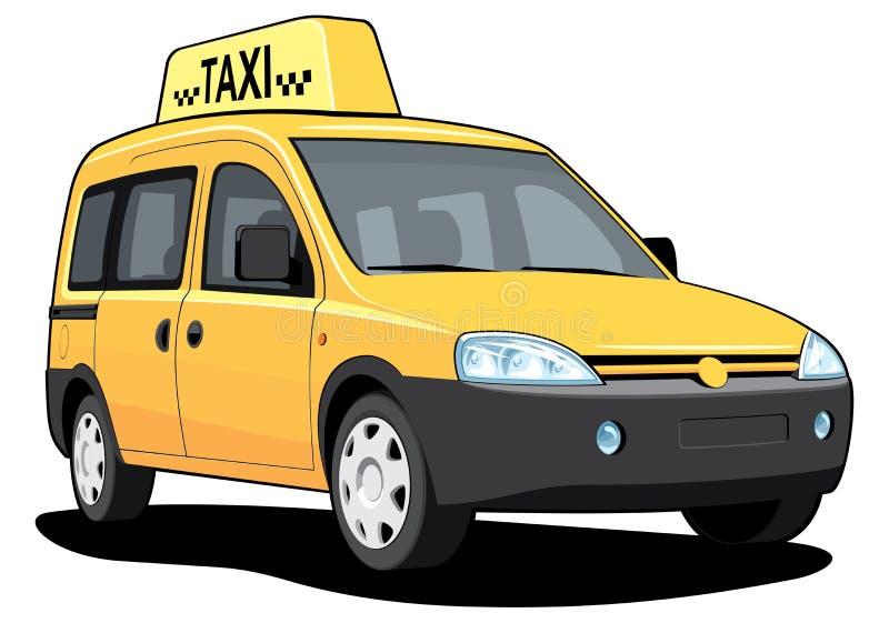 Пожелтейте таксомотор бесплатная иллюстрация