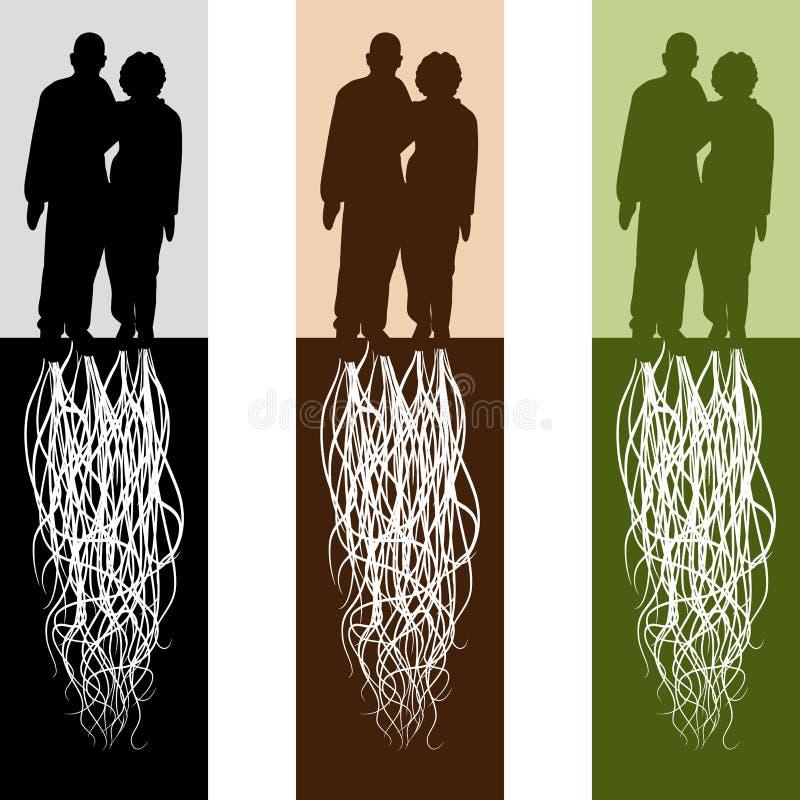 пожененные пары иллюстрация штока