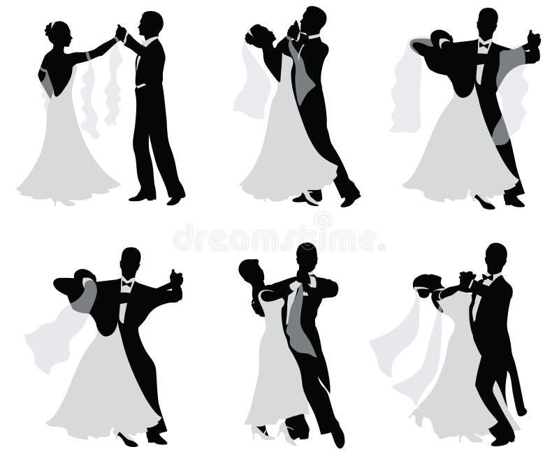 пожененный танцевать пар иллюстрация штока