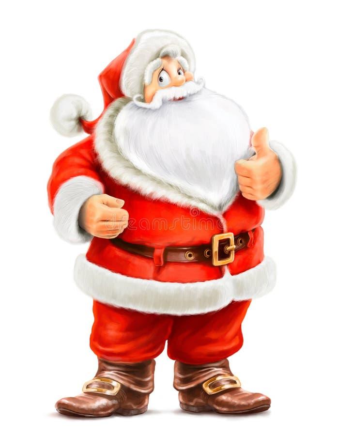 Поженитесь о'кей выставки Santa Claus иллюстрация вектора