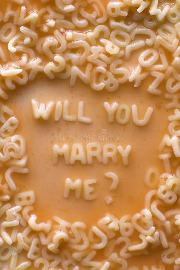 поженитесь я u будет стоковое фото