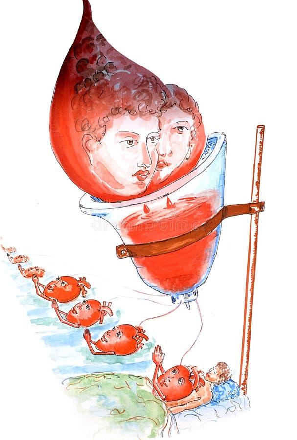пожертвование крови иллюстрация штока