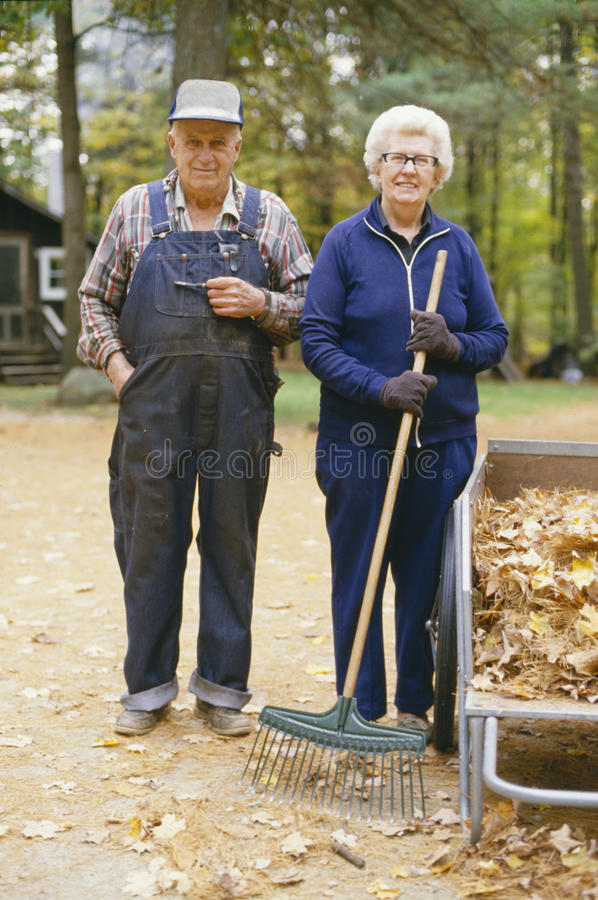 Пожилой быть фермером стоковое изображение