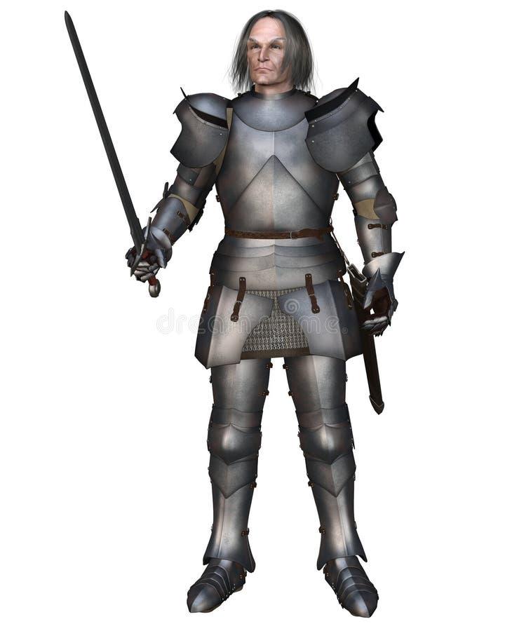 пожилой рыцарь средневековый иллюстрация штока