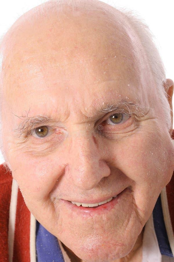 пожилой счастливый человек headshot стоковые изображения