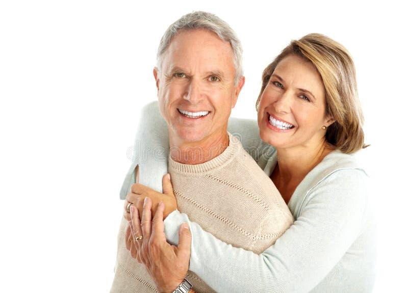 пожилые люди пар стоковое фото