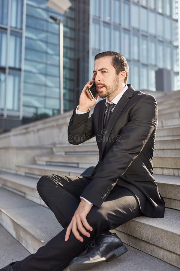 Позвоненный по телефону основатель запуска дела стоковая фотография rf