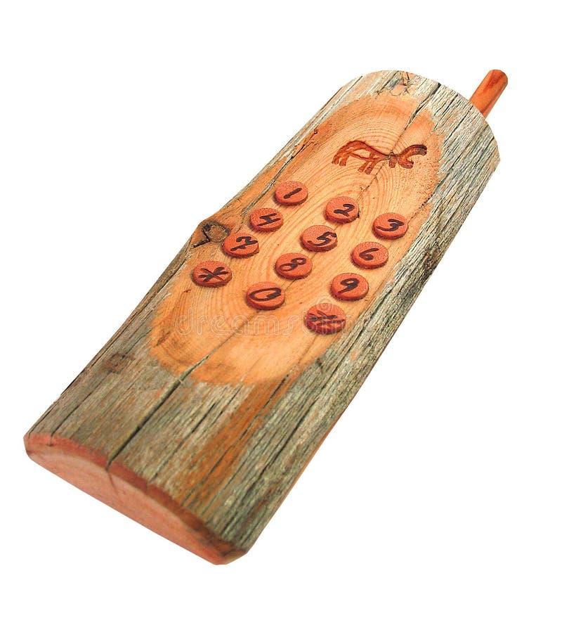 позвоните по телефону деревянному стоковое фото
