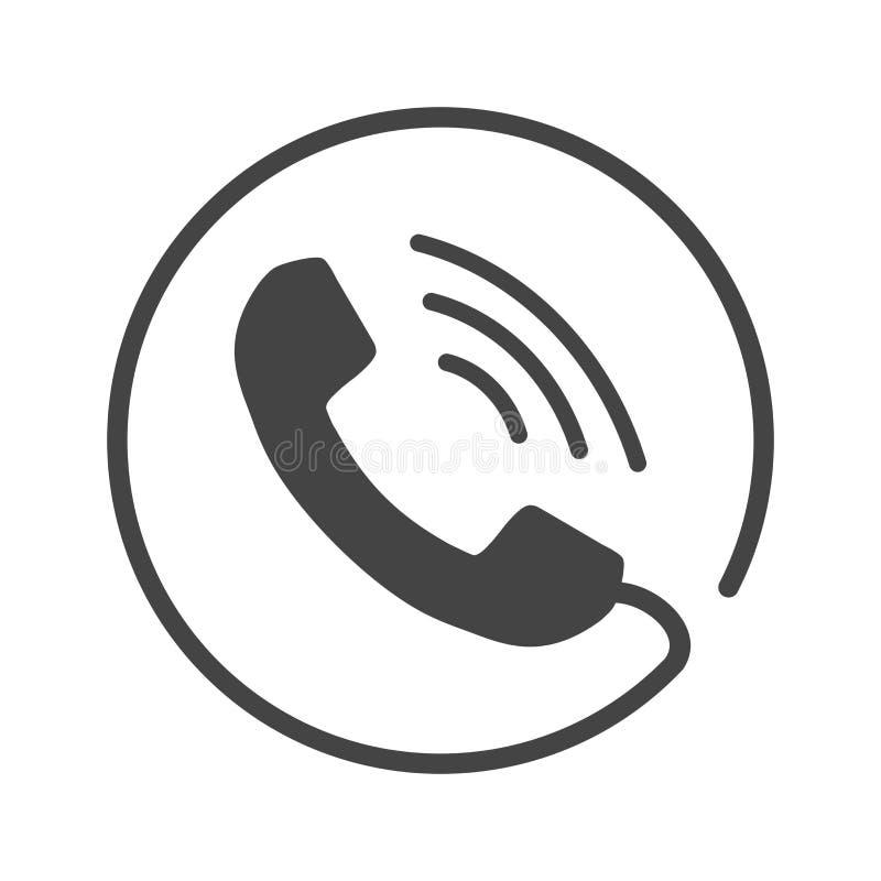 Позвоните по телефону вектору значка, контакту, знаку вспомогательного обслуживания изолированному на whi иллюстрация вектора