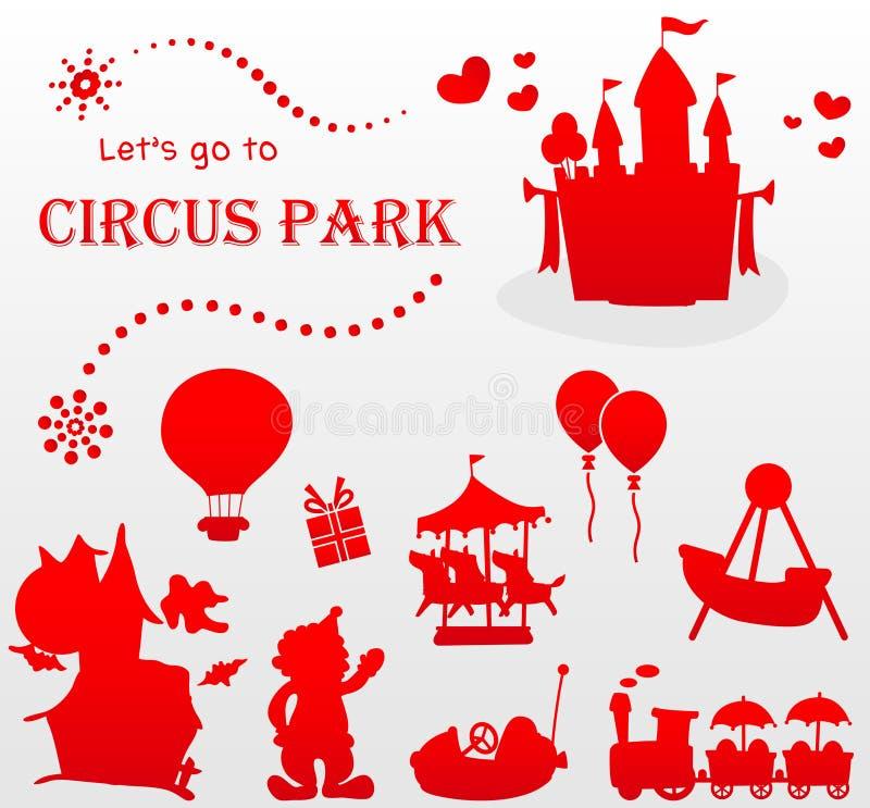 Позвольте нам пойти к парку цирка стоковое изображение rf