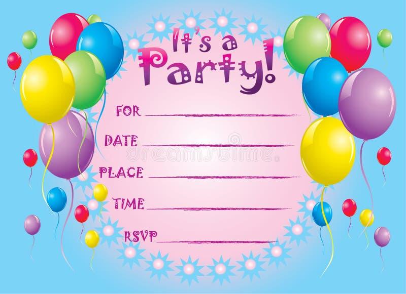 Приглашения на день рождения на английском