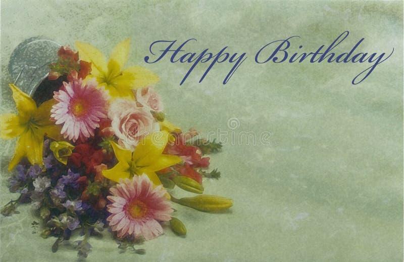 поздравительая открытка ко дню рождения стоковые фото