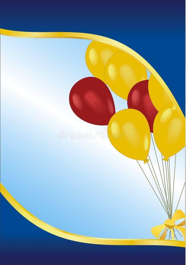 поздравительая открытка ко дню рождения иллюстрация вектора