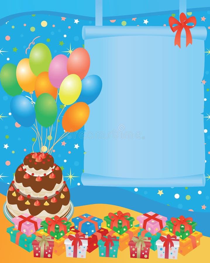 поздравительая открытка ко дню рождения иллюстрация штока