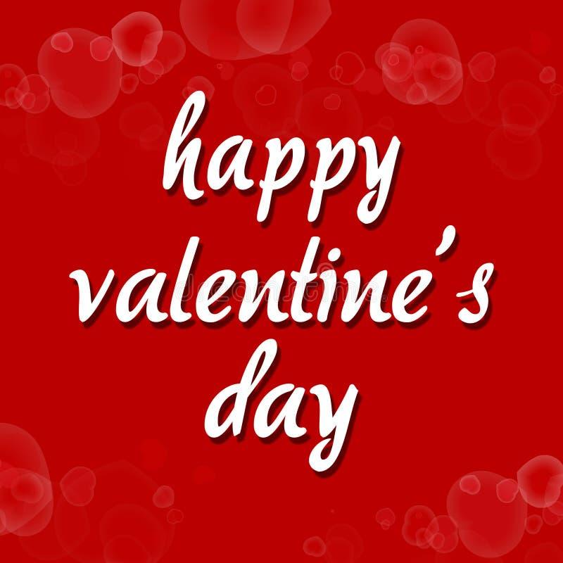 Поздравительная открытка дня валентинки для любовника стоковые фотографии rf