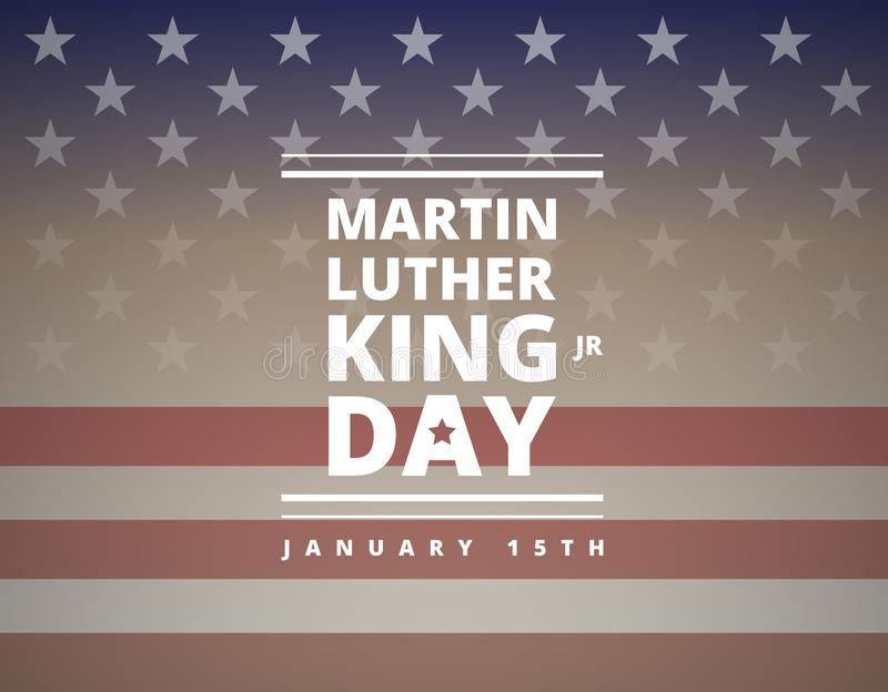Поздравительная открытка дня Мартин Лютер Кинга - вектор иллюстрация штока