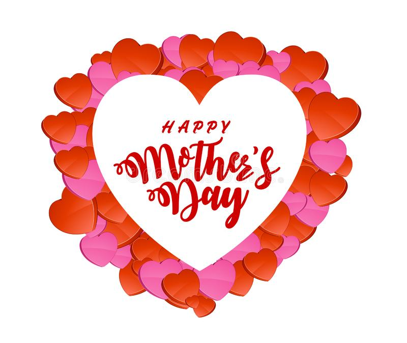 Поздравительная открытка дня матерей бесплатная иллюстрация