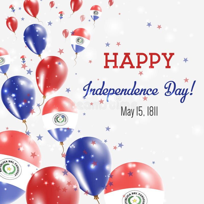 Поздравительная открытка Дня независимости Парагвая иллюстрация вектора