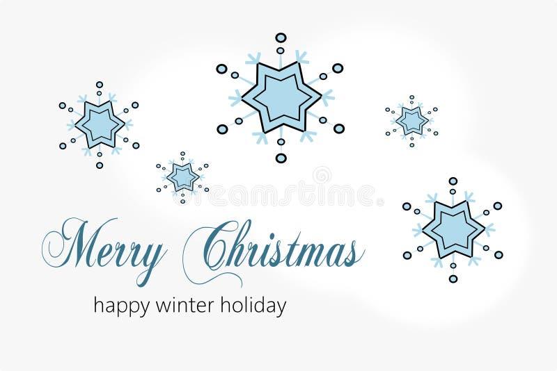 Поздравительная открытка к веселому рождеству бесплатная иллюстрация