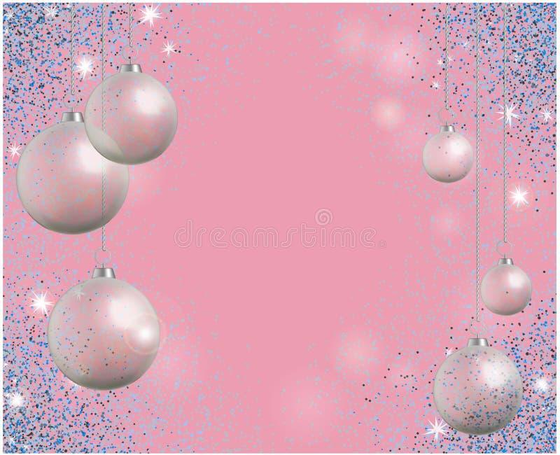 Поздравительная открытка праздника с синью сверкнает и реалистическое transpare иллюстрация вектора