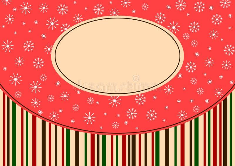 Поздравительная открытка снежинок и нашивок рождества иллюстрация штока