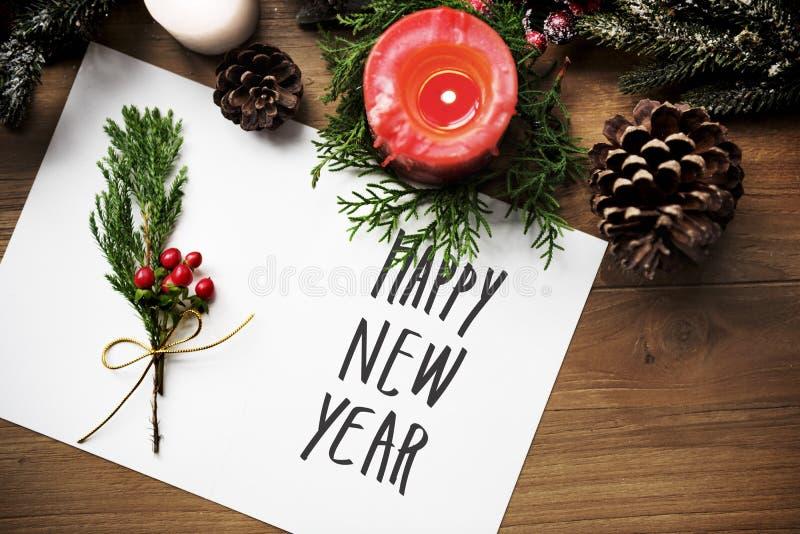 Поздравительная открытка с новым годом стоковые изображения rf