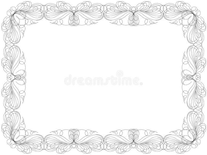 Поздравительная открытка с рамкой свирли флористической бесплатная иллюстрация