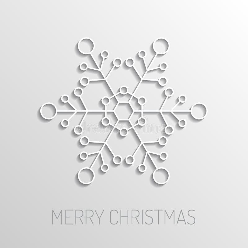 Поздравительная открытка с Рождеством Христовым бесплатная иллюстрация