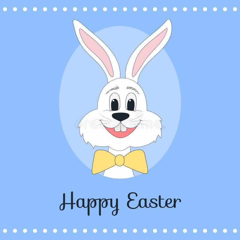 Поздравительная открытка с сладостным зайчиком пасхи иллюстрация штока