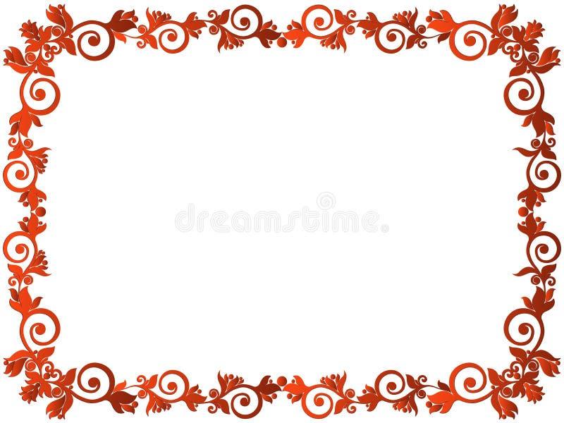 Поздравительная открытка с флористической рамкой бесплатная иллюстрация
