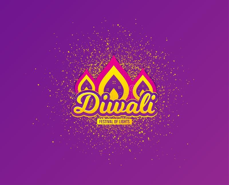 Поздравительная открытка фестиваля Diwali Предпосылка индусского фестиваля современная Индийская концепция rangoli вектор иллюстрация штока