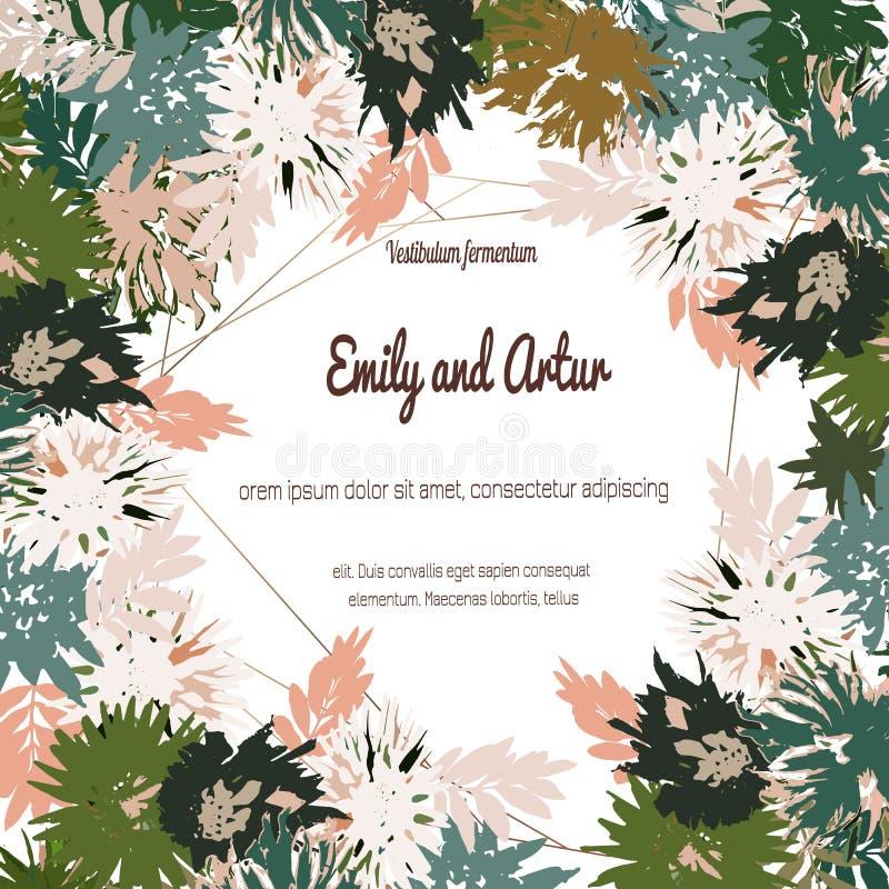 Поздравительную открытку с розами, можно использовать как карта приглашения для свадьбы, дня рождения и других праздника и предпо иллюстрация штока