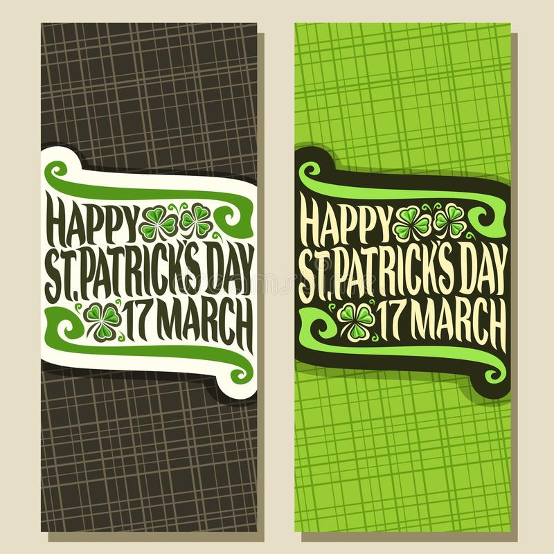 Поздравительные открытки вектора на день Patricks Святого иллюстрация вектора